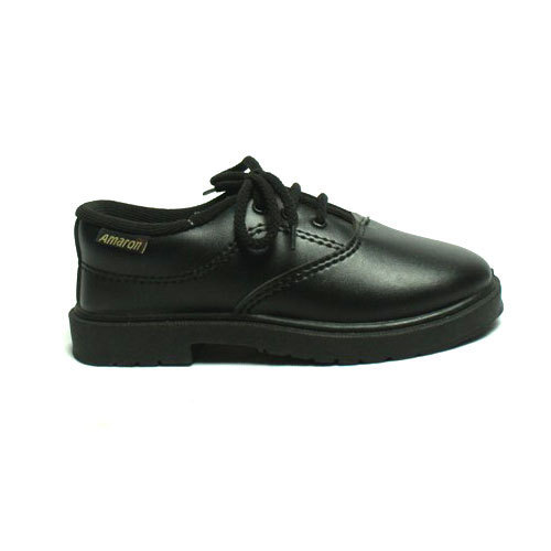 Black Kids School Shoes, Size: 6 to 7