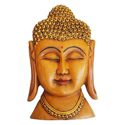 Wooden Buddha Face Mask