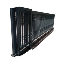 Mild Steel Color Coated Automatic Sliding Gate for Commercial