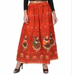 Rajasthani Orange Skirt