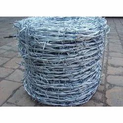 Silver GI Fencing Barbed Wire, Size: 90 Meter (length)