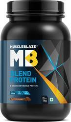 MuscleBlaze Blend Protein, 2.2 lb Rich Milk Chocolate