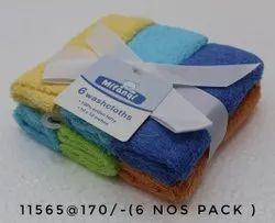 Baby Cotton Washing Cloth, Size: 10x10 Inches