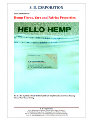 Hemp Fabric - Manufacturers & Suppliers in India
