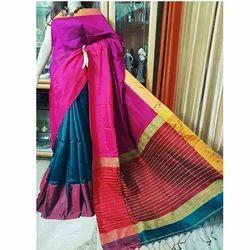 Mahapar Handloom Saree with Blouse Piece