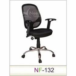 NF-132 SS Leg Black High Back Executive Chair