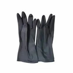 Unisex Plain JetFire Black Garden Gloves