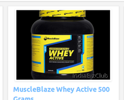 MuscleBlaze Whey Active 500 Grams