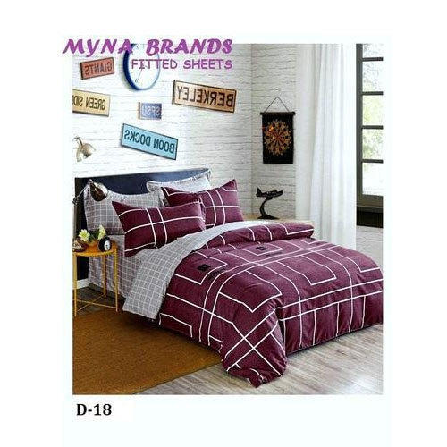 Printed Cotton Fancy Fitted Bed Sheet