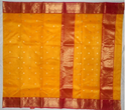 Chanderi Shridevi Red Silk Saree