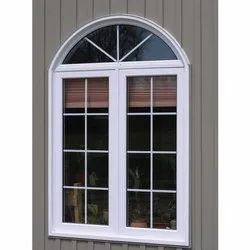White (Frame) UPVC Arched Window, Size/Dimension: 4-5 Feet(height)