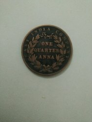 Indian Old Coin, One Quarter Anna 1835