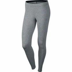 Grey Straight Fit Ladies Sports Legging