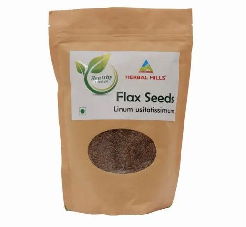 Dried Flax Seeds - Herbal Food Supplement, Packaging Size: Pouch