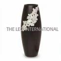 Long Shape Black Color Decorative Vase