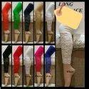 Ladies Queen Long Lace Net Legging