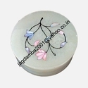 Marble Inlay In Round Box