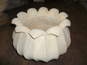 Lotus Shaped Marble Flower Pot