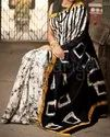 Formal Wear Batik On Malmal / Soft Cotton Saree, With Blouse Piece