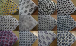 Garments Fabric Kurtis Block Print Fabric