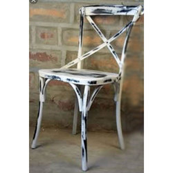Antique Finish Cross Back Chair