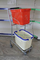2 Tier Shopping Trolley