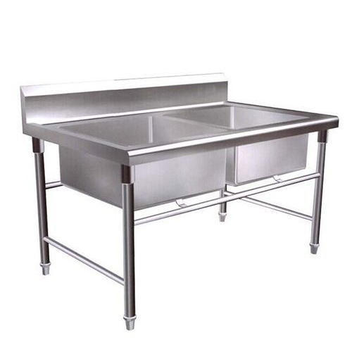 SKA Stainless Steel Double Bowl Commercial Kitchen Sink