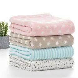 Woolen Printed Fancy Flannel Baby Blanket, Packaging Type: Packet