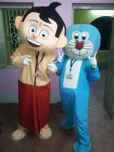 addf09821 For Adults Doraemon And Chota Bheem Mascot Costume, Rs 2500 /piece ...