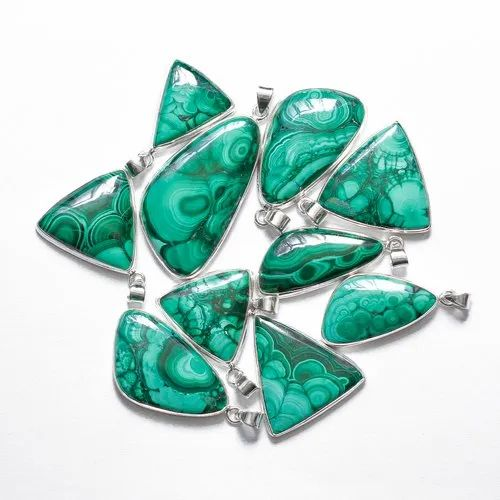 Amazing Quality 925 Sterling Silver Blue Malachite Pendant Jewelry At Factory Price