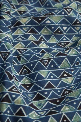 Handblock Printed Fabric Use Garments Upholstery