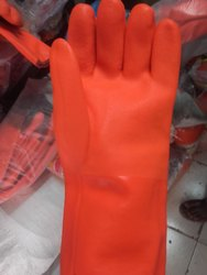 Cotton Yellow Safety Hand Gloves