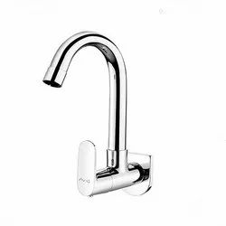 Wall Mounted Sink Cock With Regular Swinging Spout Ornamix
