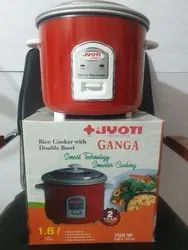 Ganga Electric Double Bowl Rice Cookers, Capacity(Litre): 1.8 L , Warranty: 2 Years, Power-700W