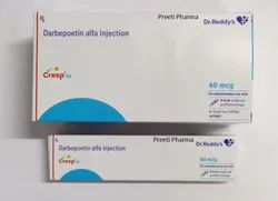 Darbepoetin Alfa 40 Mcg CRESP 40MCG INJECTION, Non prescription, Treatment: Chronic Kidney Disease