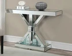 Accent Modern Designer Console Table X Type for Home Decor Living Room Hallway Entry
