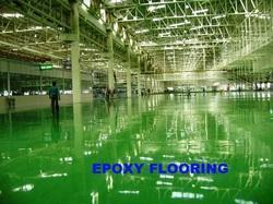 in Industrial Building 1076 Sq Ft Epoxy Flooring Services, in North India, Thickness: 0.3 - 5 mm