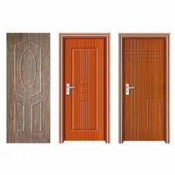 Hinged Laminated Sintex PVC Door, For Home