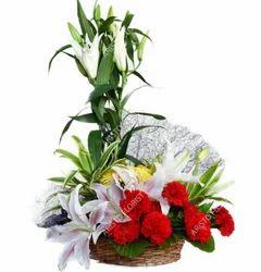 Basket Flower Bouquet