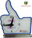 Thumb Shape Table Clock
