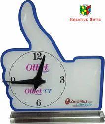 Thumb Shape Table Clock