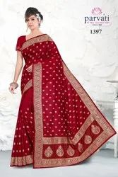 Heavy Embroidery Silk Saree With Blouse Piece By Parvati Fabric (Vol-250)