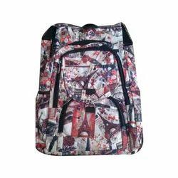 PVC Designer Printed College Backpack Bag