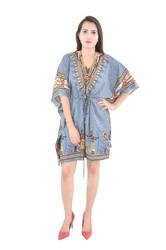 Grey Cotton Wear Poncho Fashionable Kaftan