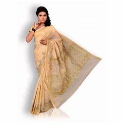 Ladies Chikan Saree, 6 M with Blouse Piece