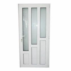 White Powder Coated Aluminium Door, Single, Thickness: 10 Mm