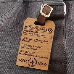 Brown Designer Wooden Hanging Tag For Paper Garment.