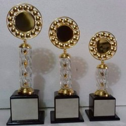 Steel Printed Glass Trophy, 12inch, Shape: Round Shape