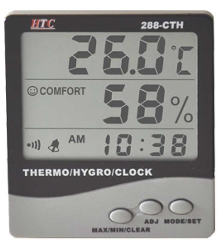 Wall Mounted Temperature And Humidity Indicator Thermo