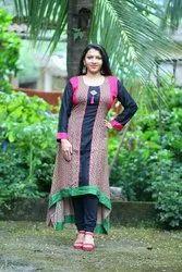 Girl Stitched Designer Kurti